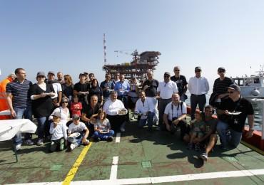 Foto di gruppo sulla piattaforma