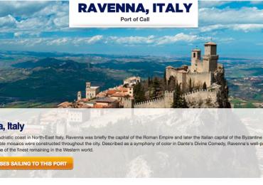 La schermata del sito di R. Caribbean