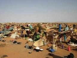 Un campo di rifugiati