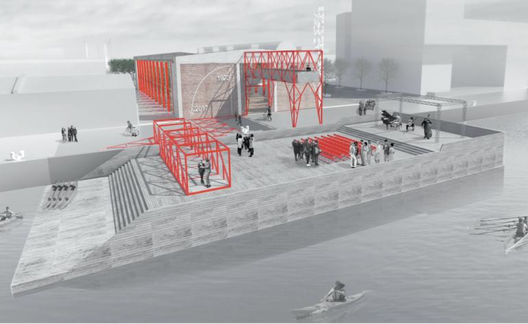 Gru di banchina architetto torinese vince il concorso di for Noto architetto torinese
