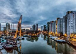 La foto del porto di Rotterdam