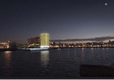 La torre dorata galleggiante