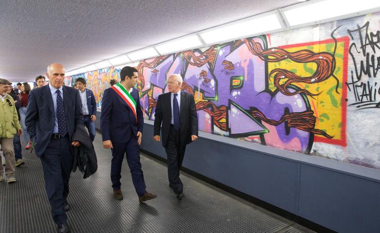 L'inaugurazione del nuovo sottopasso